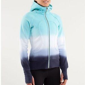 Lululemon scuba hoodie zip up dip dye ombre aqua